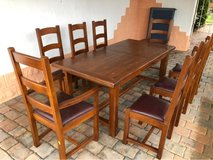 oak dining room table and chairs in Ramstein, Germany