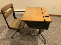 Old fashioned school desk in Naperville, Illinois