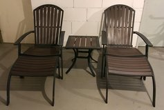 2 x Garden patio  chairs with drinks table in Wiesbaden, GE