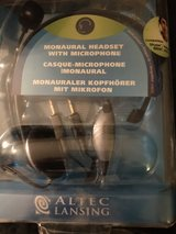 ALTEC Lansing Monaural Headset w/Noise Canceling Microphone in Orland Park, Illinois