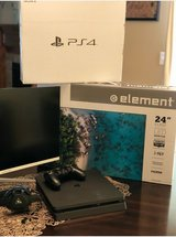 PS4 w/monitor in Fort Riley, Kansas