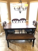 Farmhouse table with bench from Pier 1 in Kingwood, Texas