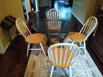 "kitchen table 42"" Glass top with 4 chairs in Kingwood, Texas"