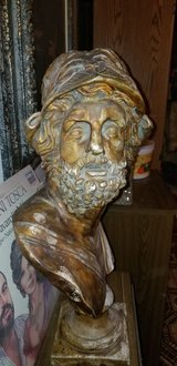 Antique Greek Soldier Bust in Glendale Heights, Illinois