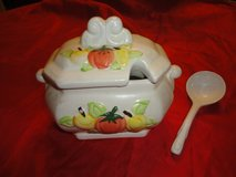 vintage service bowl,cover,ladel & condiment set, two covers, two spoons in Tomball, Texas