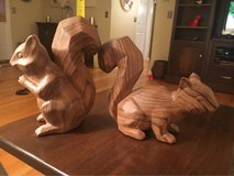 Wood-look Squirrels in Batavia, Illinois