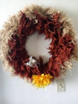 Wreath and wall decor in 29 Palms, California