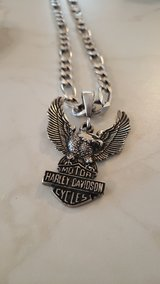 Sterling Silver Harley Davidson Figaro necklace in Grafenwoehr, GE