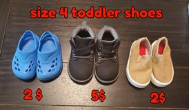 Size 4 toddler shoes in Fort Sam Houston, Texas