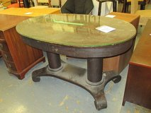 Dark Wood, Antique, Oval Table in St. Charles, Illinois