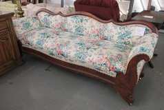 Antique Sofa with Floral Upholstery in St. Charles, Illinois