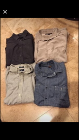 Lot 4 men's shirts Sz large long sleeves in Naperville, Illinois