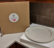 "Nora Fleming Round Off White 15"" Dot Plate Platter Large Retired Rare in St. Charles, Illinois"