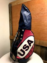 "U.S.A. 10"" Inch STAFF GOLF BAG RED/WHITE/BLUE -- PING in Beaufort, South Carolina"