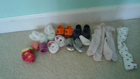 American Girl Doll and Our Generation Doll mix of shoes, slippers, socks and tights in Joliet, Illinois