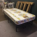Serta Twin Size Bed Firm Mattress With Raised Frame in DeRidder, Louisiana