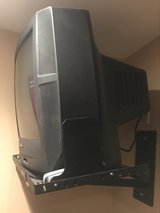 20 inch Panasonic tube tv and Lucasey wall mount in St. Charles, Illinois