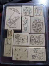 Stampin' Up! Sparkling Summer 11-piece rubber stamp set. in St. Charles, Illinois