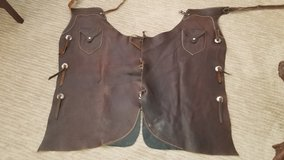Like new Brown Leather Batwing chaps in Camp Pendleton, California