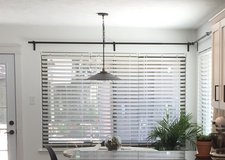 """Allen + Roth White Cordless 2"""" Faux Wood Window Blinds in Kingwood, Texas"""