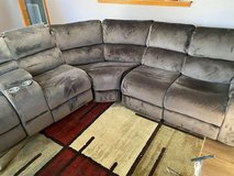 3 piece sectional Couch with Reclining Rockers in Fort Campbell, Kentucky