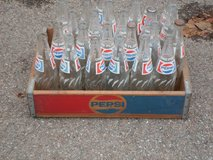 VINTAGE Pepsi Crate and bottles in Sandwich, Illinois