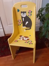 handpainded wood childs chair in Morris, Illinois