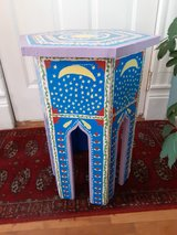 handpainted moroccan inspired end table in Morris, Illinois