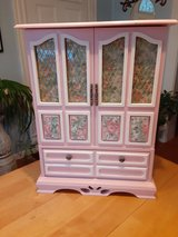 artist refurbished jewelry armoire 20x14x7 in Morris, Illinois