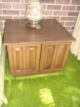 Vintage 1960's, Two(2) Walnut End Tables with Storage, Formica Tops in Orland Park, Illinois