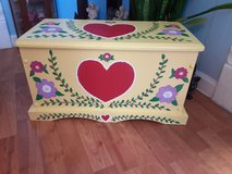 wood handpainted trunk 22l x 13t x 12d in Chicago, Illinois