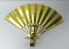 BRASS FAN Sconce CANDLE HOLDER ~ Vintage in Alamogordo, New Mexico
