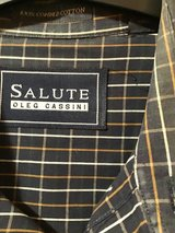 OLEG CASINI SALUTE MEN'S STRIPED LONG SLEEVE BUTTON UP SHIRT XL. in Alamogordo, New Mexico