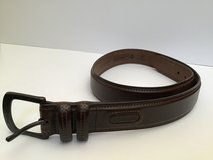 "COLUMBIA DARK BROWN 1.5""WIDE MEN'S LEATHER BELT SIZE 36 in Alamogordo, New Mexico"