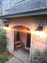 Outdoor wall light fixture pair in Spring, Texas