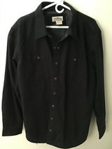 KATAHDIN IRON WORKS L.L. BEAN MEN'S CANVAS FLEECE LINED SOLID BLACK SHIRT JACKET XL TALL. in Alamogordo, New Mexico