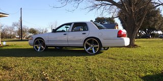 2005 mercury marquis on 24s in Bellaire, Texas