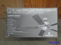 "52 Inch ""Celebrity Deluxe"" Ceiling Fan ""Brushed Nickel"" (Brand New) in Fort Leavenworth, Kansas"
