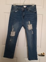 Ladies Distressed Denim Capris in DeKalb, Illinois