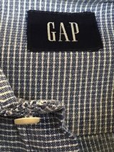 THE GAP MEN'S BLUE AND WHITE MINI CHECK LONG SLEEVE BUTTON UP SHIRT XL in Alamogordo, New Mexico