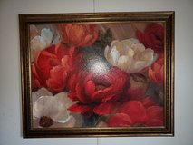 Floral art print with gold frame in Alamogordo, New Mexico