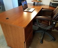 Desk plus Lateral File Cabinet in St. Charles, Illinois