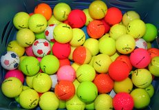 Color golf balls .75 cents each. in Plainfield, Illinois