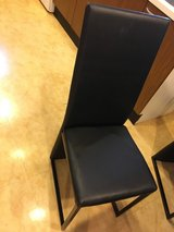 Dining table and leather 4 chairs in Okinawa, Japan