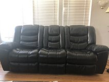 Reclining Leather Sofa & Love Seat in Huntington Beach, California