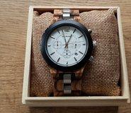 Wood clock for men new and unused in Ramstein, Germany