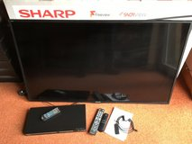 "Sharp Aquos 50"" Freeview T.V. plus Amazon Firestick in Lakenheath, UK"