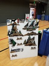 Quial , Bear, , Elk Moose , wolf,  Eagle scene's have other items also in Fort Lewis, Washington