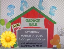 GARAGE SALE SAT MARCH 7.  8AM in Bellaire, Texas