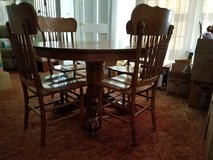 OAK TABLE & CHAIRS in Camp Lejeune, North Carolina